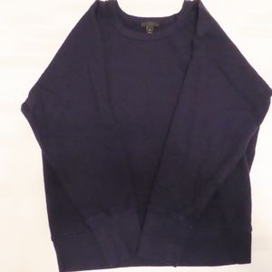 J Crew Navy Collection Sweat Shirt Sz M